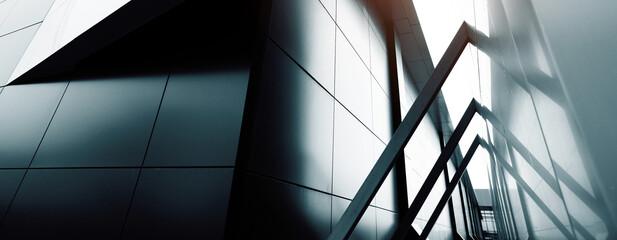 commercial building skyscraper made of glass. Website header or banner