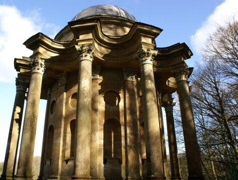 STOURHEAD, WILTSHIRE, UNITED KINGDOM - Mar 20, 2015: The Temple of Apollo, Stourhead, Wiltshire. 20 March 2015.