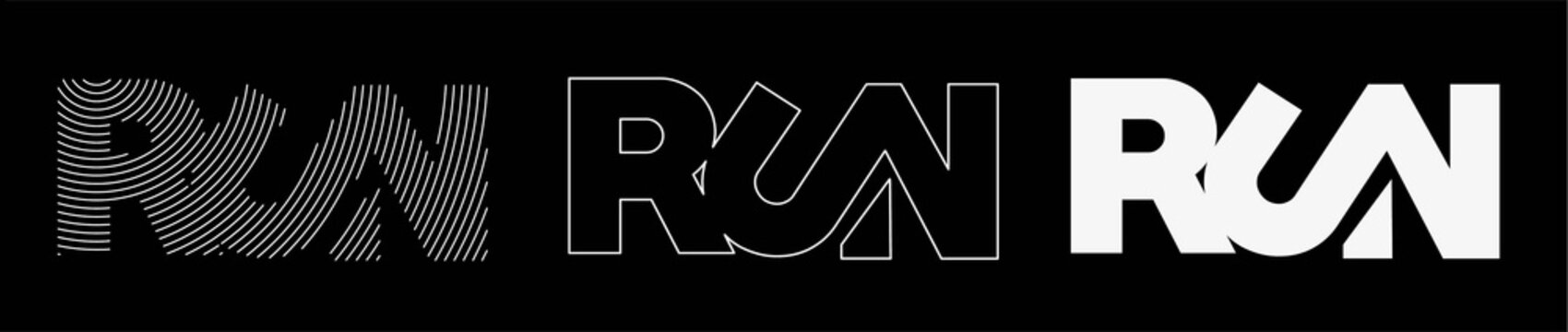 Run calligraphic text vector illustration design.