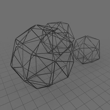 Sphere sculpture set