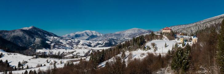 Forest and mountains synevirsky reserve.Kamenka Ukraine.