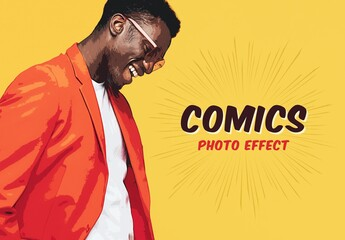 Comic Style Photo Effect Mockup