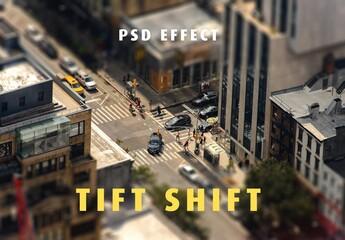Miniature Tilt Shift Lens Effect Mockup