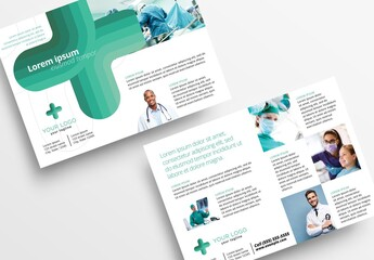 Modern Medical Flyer with Turquoise Colors
