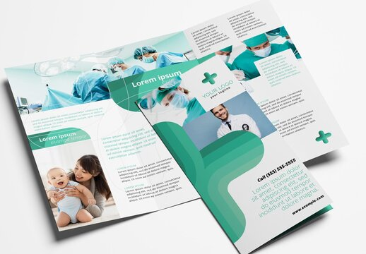 Modern Hospital Trifold Brochure for Medical Services
