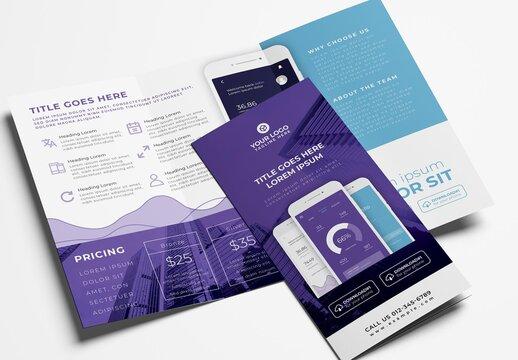 Trifold Brochure for Mobile App Developers