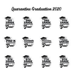 29072020 - Quarantine Graduation 2020 Design Bundle, Kindergarten Pre-K Preschool 1st 2nd 3rd 4th 5th 6th 7th 8th Grade Grad Shirt, Clip Art