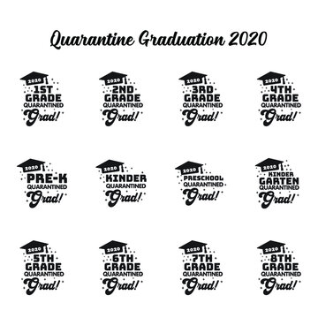 29072020 - Quarantine Graduation 2020 Design Bundle, Kindergarten Pre-K Preschool 1st 2nd 3rd 4th 5th 6th 7th 8th Grade Grad Shirt, Clip Art