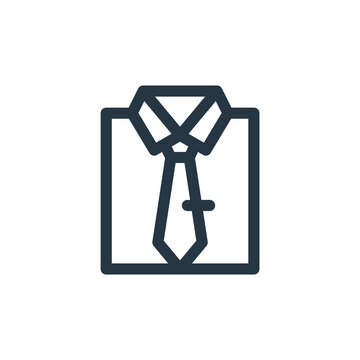 dress code icon vector from business administration concept. Thin line illustration of dress code editable stroke. dress code linear sign for use on web and mobile apps, logo, print media.