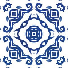 Antique azulejo tiles patchwork.