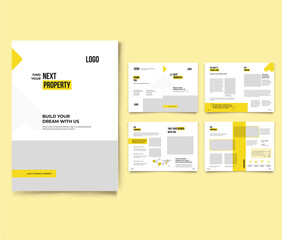 Real Estate Agency Profile Brochure Real Estate Company Profile Indesign Template Real Estate Brochure