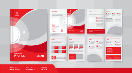 8 pages business company profile brochure design use it is for business promotion
