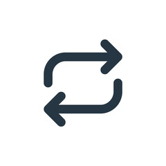 repeat icon vector from arrow concept. Thin line illustration of repeat editable stroke. repeat linear sign for use on web and mobile apps, logo, print media.
