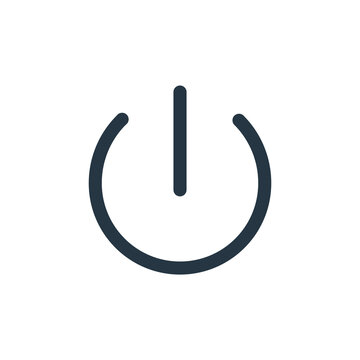 log out icon vector from user interface concept. Thin line illustration of log out editable stroke. log out linear sign for use on web and mobile apps, logo, print media.