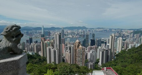 Wall Mural - Hong Kong city skyline landmark