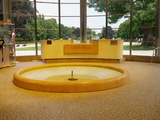 Springs inside the spa colonnade