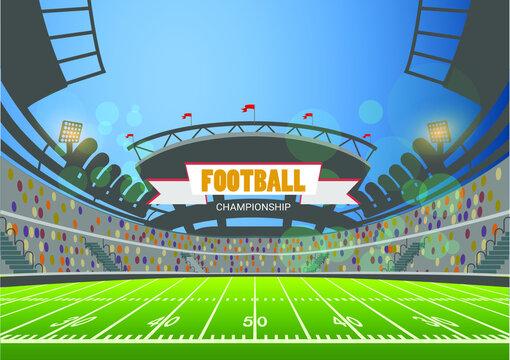 American football arena field. vector design. eps 10