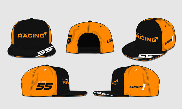 baseball racing cap vector template sports apparel