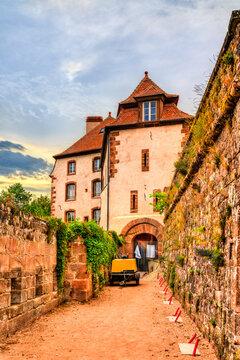 Castle of la Petite-Pierre in Alsace - Bas-Rhin, France
