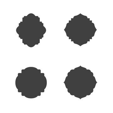 Mosque window vector icon