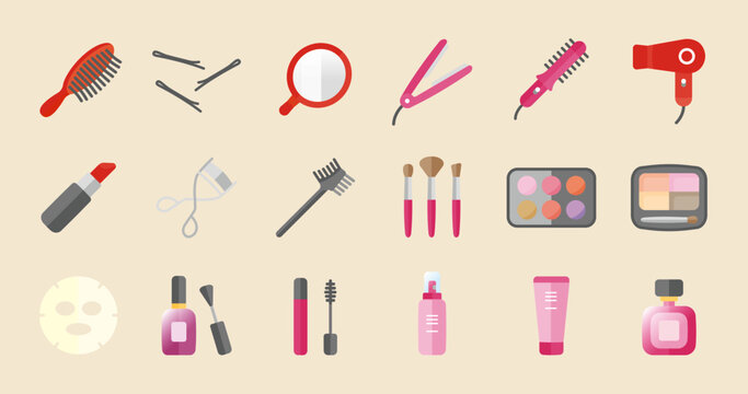 Beauty Cosmetics Icon (Simple flat vector for illustrations or graphics)