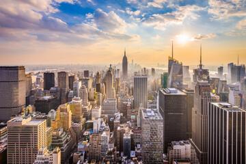 Fototapeta New York, New York, USA skyline