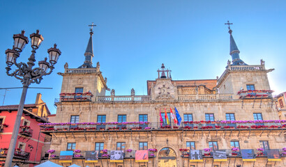 Wall Mural - Leon historical center, Spain, HDR Image