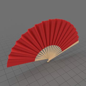 Open hand fan