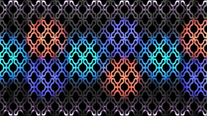 Stage Decor 23. 3d Illustration. Pattern background with spot light on it