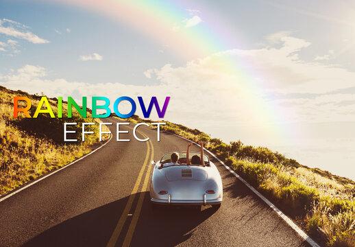 Rainbow Effect Mockup