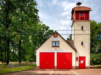 Feuerwache  in dem kleinen Dorf Boblitz im Spreewald