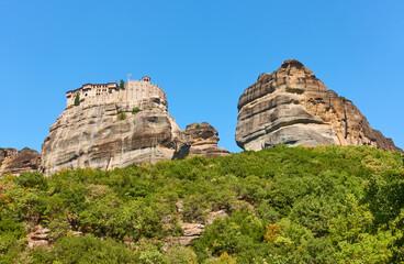 Rocks of Meteora with Monastery of Varlaam
