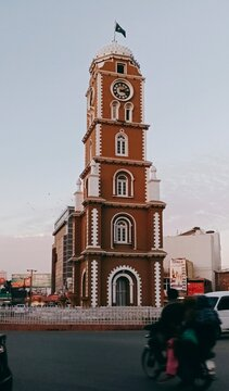Clock tower Located in saddar which is the heart of Sialkot City. This city is also the birth place of Poet Allama Muhammad Iqbal.  Exact name of this location is also know as Iqbal Square.