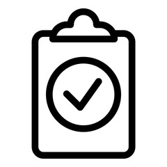 Fototapeta Checklist Flat Icon Isolated On White Background