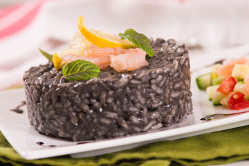 Squid ink risotto.