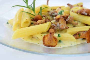 Pfifferlinge Penne Sahnesauce