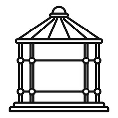 Arch gazebo icon. Outline arch gazebo vector icon for web design isolated on white background
