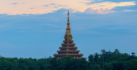 Temple in Thailand is named Phra Mahathat Kaen Nakhon, Khon Kaen province, Thailand.