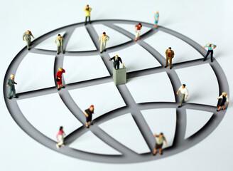 Menschen im Netzwerk