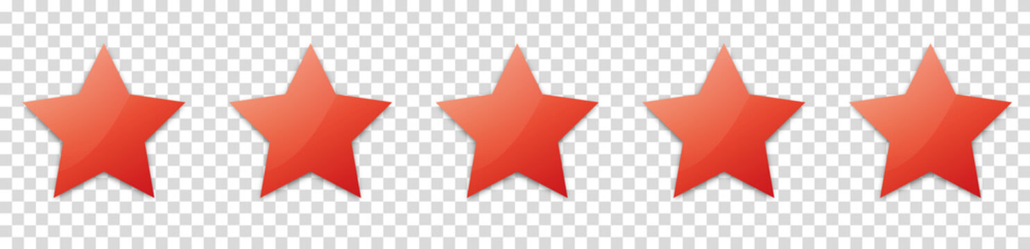 5 red stars for customer produkt rating