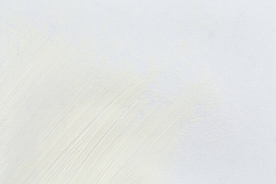 White stroke of the paint brush
