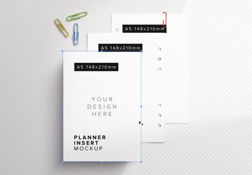 Planner Page Inserts Mockup