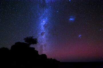 Milky Way with aurora