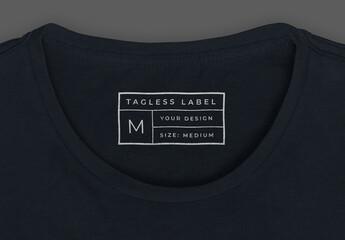 Tagless T-Shirt Label Mockup