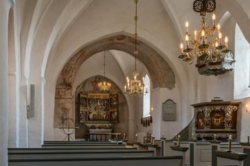 interior of an medeival danish church