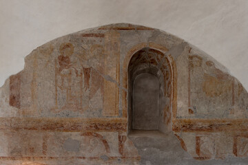 Annunciation of the Virgin Mary´s Death, a medieval wall-painting