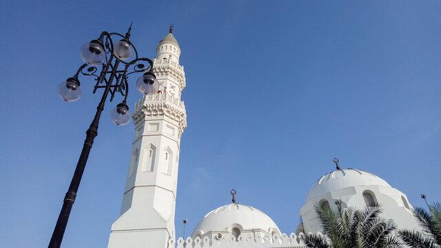 Masjid-e-Quba the first mosque in the history of Islam in Madina Munawara, Saudi Arabia