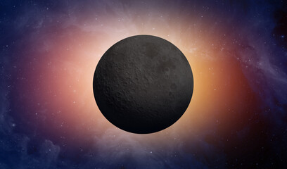 Wall Mural - The dark side of the moon