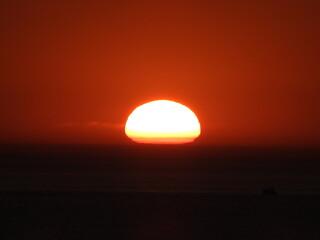 Couché de soleil sur la mer, Boulogne sur mer