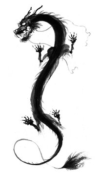ink asian dragon